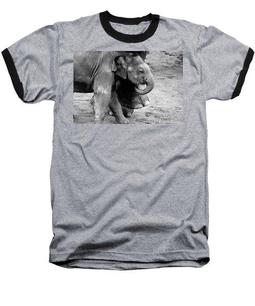 Baby Elephant Security Baseball T-Shirt