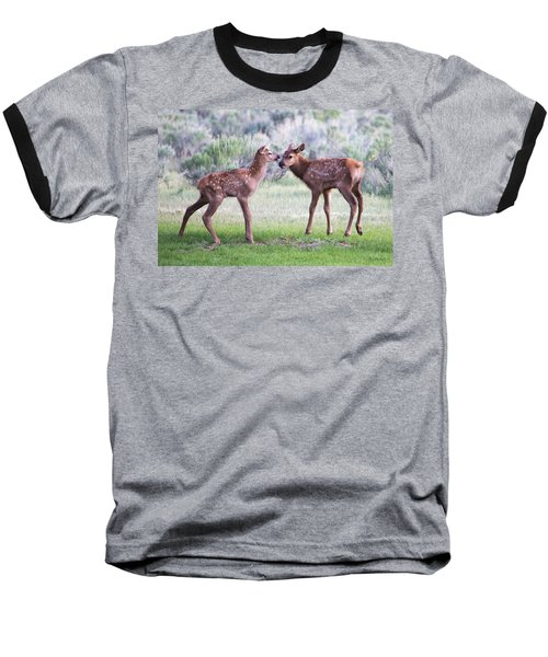 Baseball T-Shirt featuring the photograph Baby Elk by Wesley Aston