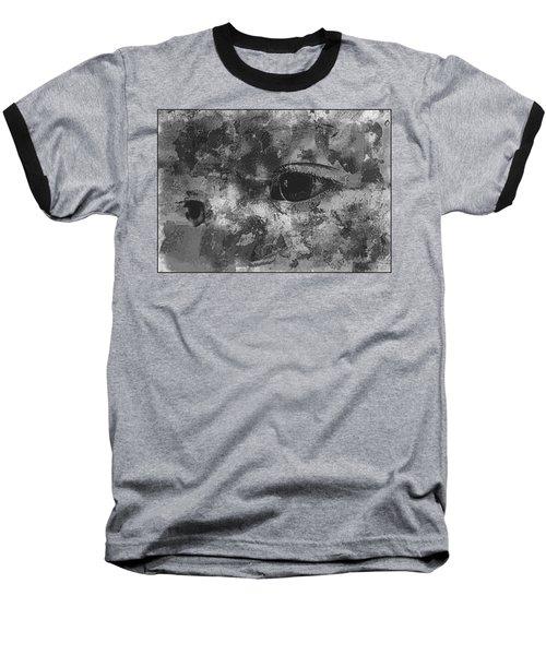 Baby Eyes, Black And White Baseball T-Shirt