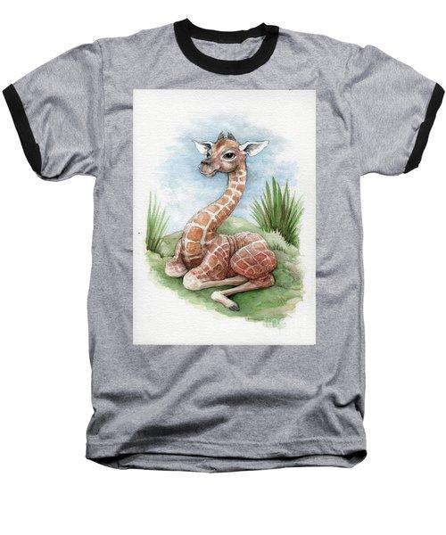 Baby Giraffe Baseball T-Shirt