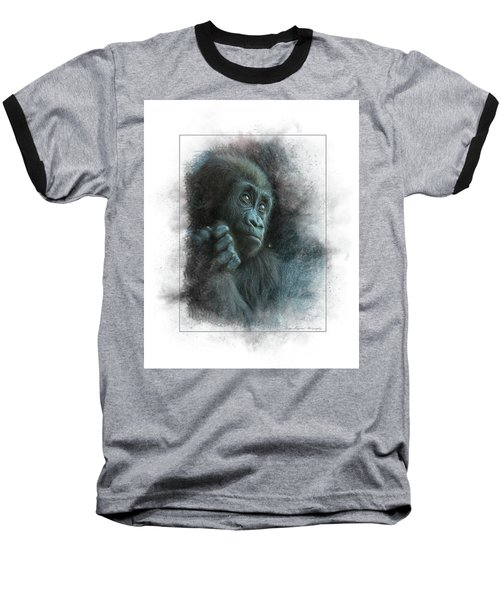 Baby Gorilla Baseball T-Shirt