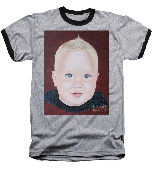 Baseball T-Shirt featuring the painting Baby by Jeepee Aero