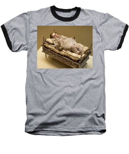 Baby Jesus In Lace Baseball T-Shirt