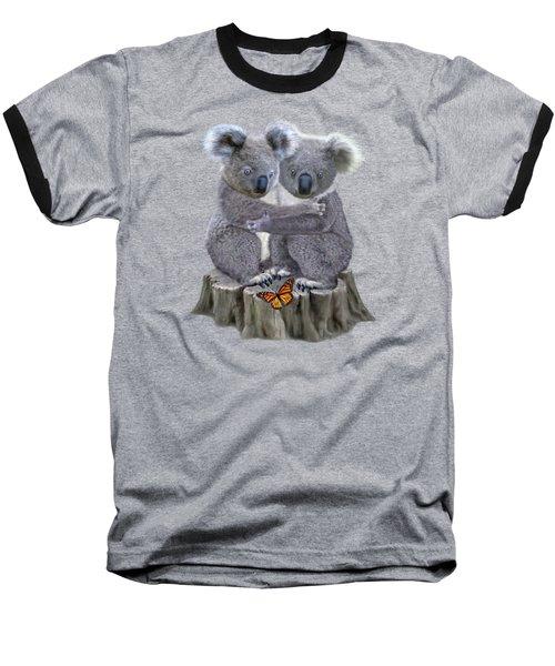 Baby Koala Huggies Baseball T-Shirt by Glenn Holbrook