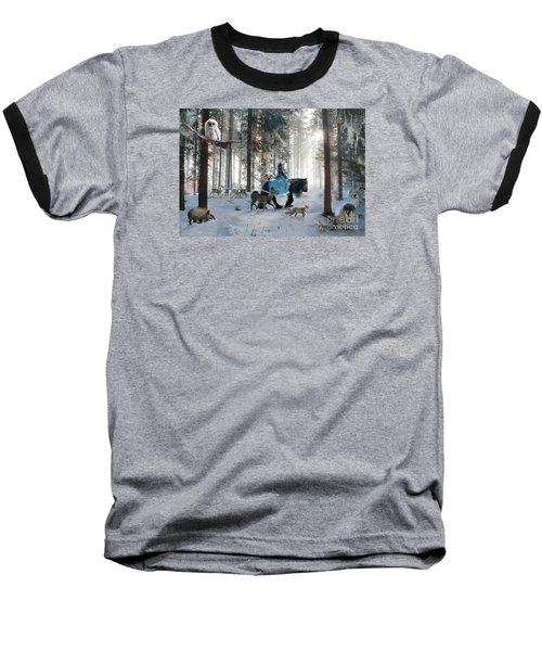 Baseball T-Shirt featuring the digital art Baby Owl by Dorota Kudyba