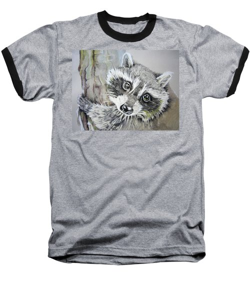 Baby Raccoon Baseball T-Shirt