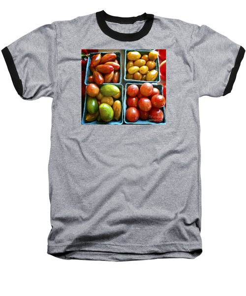 Baby Tomato Medley Baseball T-Shirt by Dee Flouton