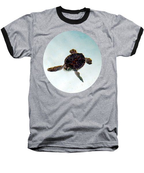 Baseball T-Shirt featuring the photograph Baby Turtle by Francesca Mackenney