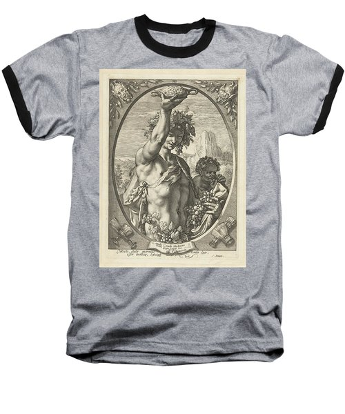 Bacchus God Of Ectasy Baseball T-Shirt by R Muirhead Art