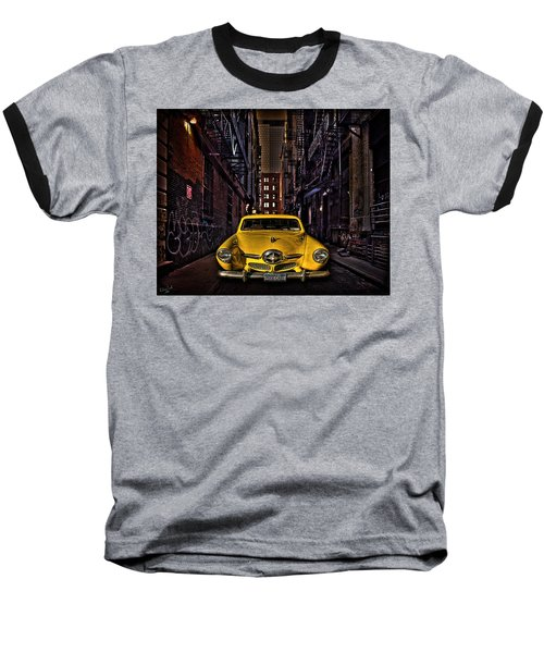Back Alley Taxi Cab Baseball T-Shirt