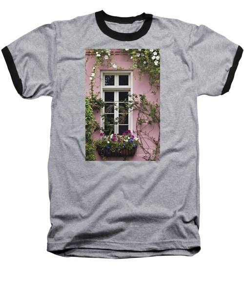 Back Alley Window Box - D001793 Baseball T-Shirt by Daniel Dempster