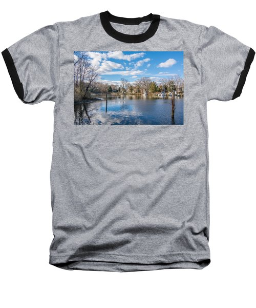 Baseball T-Shirt featuring the photograph Back Creek by Charles Kraus