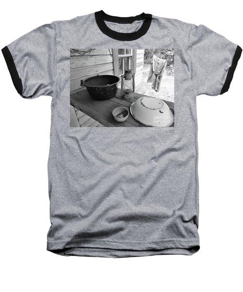 Back In Time B - W Baseball T-Shirt