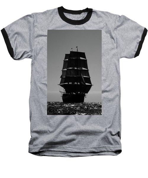 Back Lit Tall Ship Baseball T-Shirt