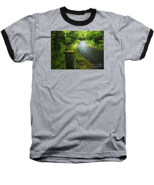 Back Road Baseball T-Shirt by Alana Ranney