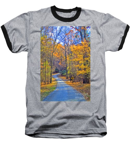 Baseball T-Shirt featuring the photograph Back Road Fall Foliage by David Zanzinger
