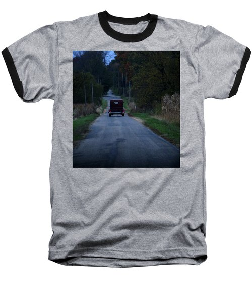 Baseball T-Shirt featuring the photograph Back Roads by Rowana Ray