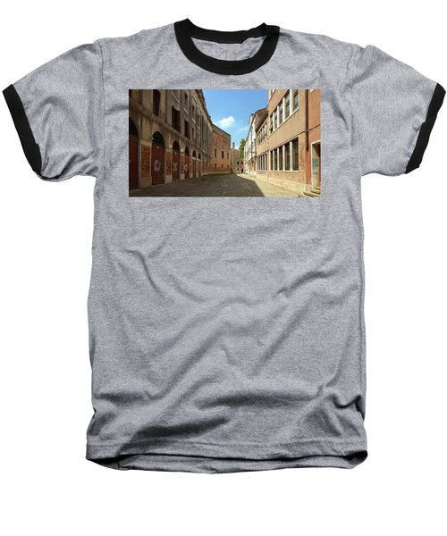 Baseball T-Shirt featuring the photograph Back Street In Venice by Anne Kotan