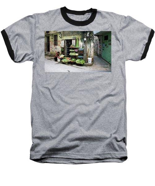 Back Street Veggies Store I Baseball T-Shirt