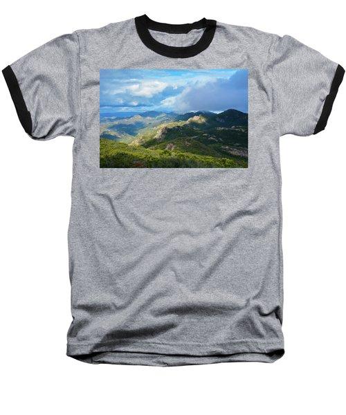 Backbone Trail Santa Monica Mountains Baseball T-Shirt