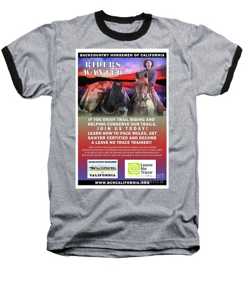 Backcountry Horsemen Join Us Poster II Baseball T-Shirt