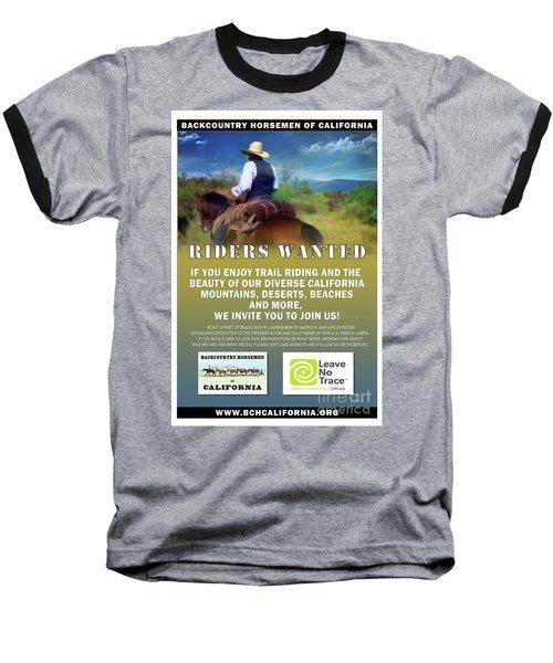 Backcountry Horsemen Join Us Poster Baseball T-Shirt