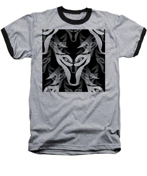 Background Choice Black Wolf Baseball T-Shirt