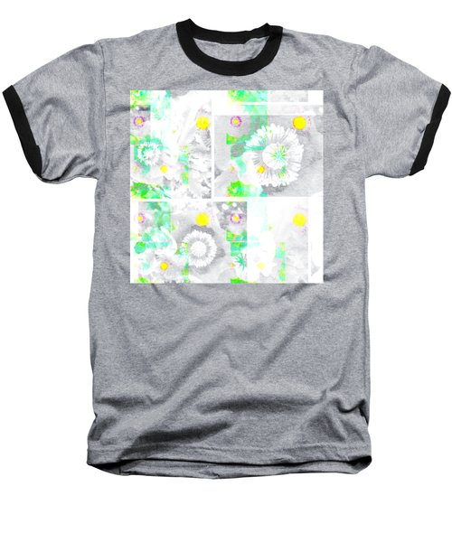 Colour Choice Poppy Collage Baseball T-Shirt