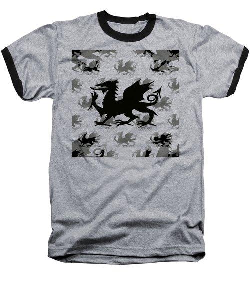 Background Choice Welsh Dragon Black Baseball T-Shirt