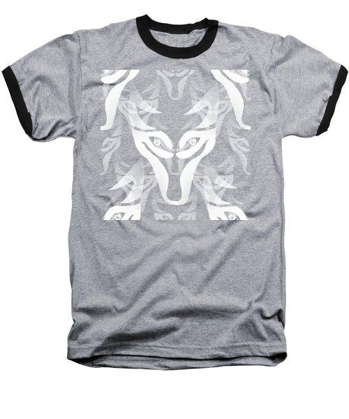 Background Choice White Wolf Baseball T-Shirt