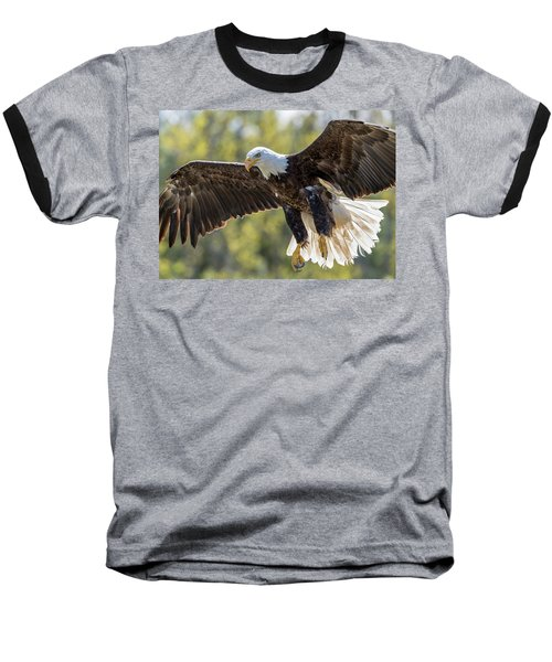 Backlit Eagle Baseball T-Shirt