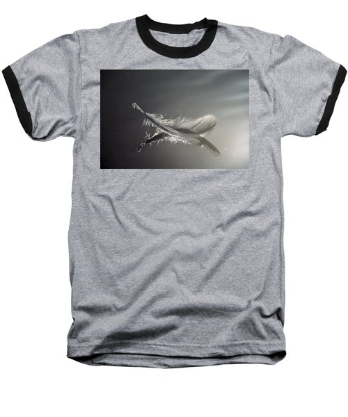 Backlit Feather Baseball T-Shirt