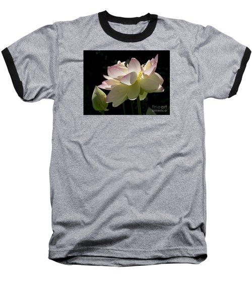 Backlit Lotus Blossom Baseball T-Shirt
