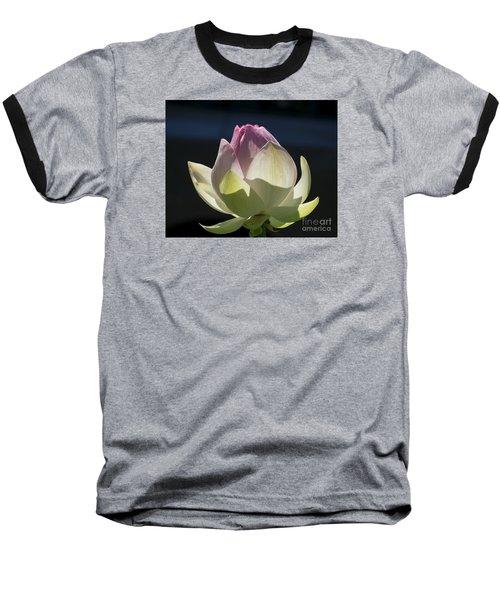 Backlit Lotus Bud 2015 Baseball T-Shirt