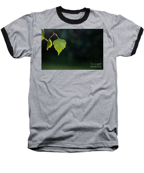 Baseball T-Shirt featuring the photograph Backlit Shiny Leaf by Kennerth and Birgitta Kullman
