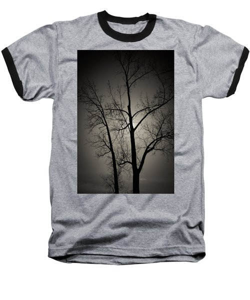 Backlit Trees Baseball T-Shirt