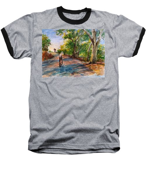 Backwoods Pedaling Baseball T-Shirt