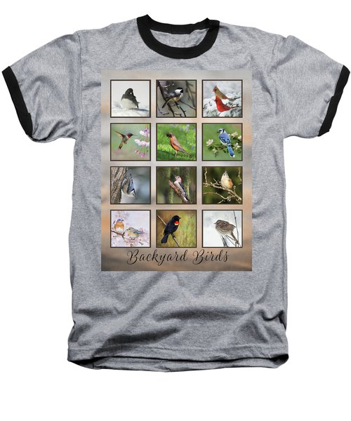 Baseball T-Shirt featuring the photograph Backyard Birds by Lori Deiter
