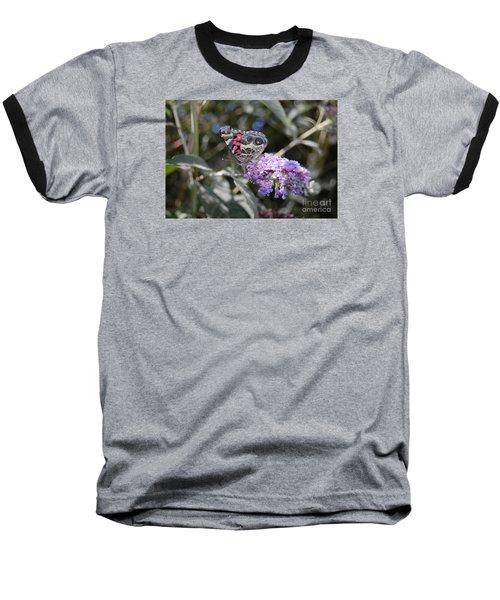Backyard Buckeye Butterfly Baseball T-Shirt