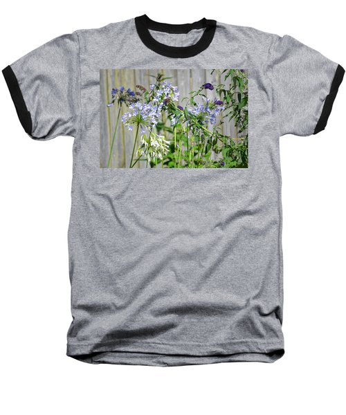 Backyard Flowers Baseball T-Shirt