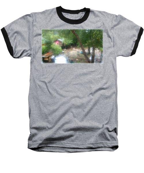 Backyard Rain Baseball T-Shirt