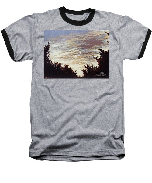Backyard Sunset Baseball T-Shirt