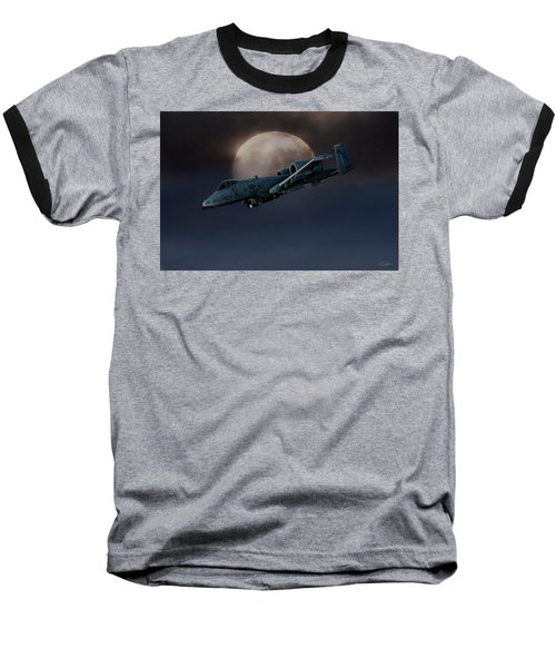 Baseball T-Shirt featuring the digital art Bad Moon by Peter Chilelli