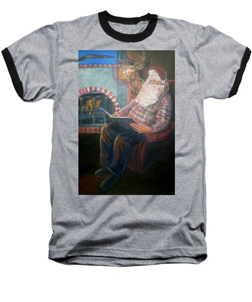 Baseball T-Shirt featuring the painting Bad Rudolph by Bryan Bustard