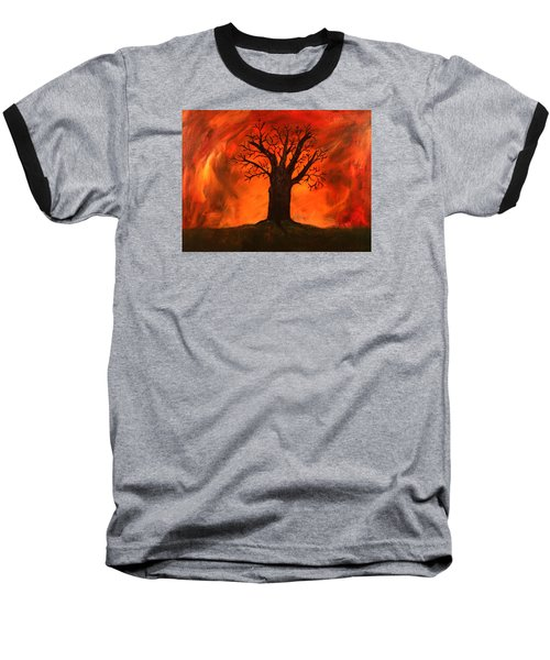 Bad Tree Baseball T-Shirt by David Stasiak