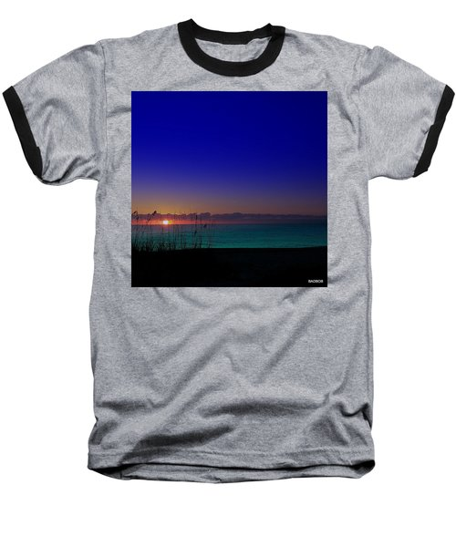 Badblue Sunrise  Baseball T-Shirt