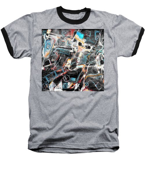 Baseball T-Shirt featuring the painting Badlands 2 by Dominic Piperata