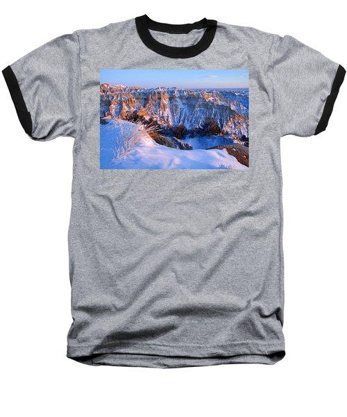 Badlands At Sunset Baseball T-Shirt