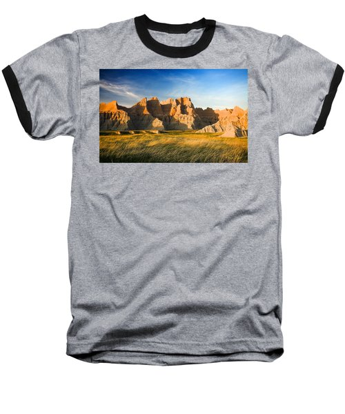 Baseball T-Shirt featuring the photograph Badlands In Late Afternoon by Rikk Flohr