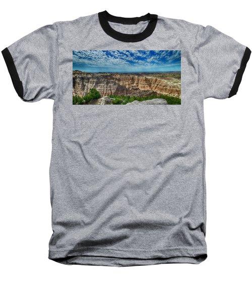 Badlands Landscape Baseball T-Shirt